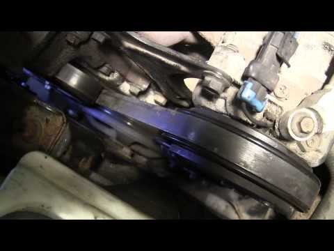 Belt tensioner replacement on a Saturn