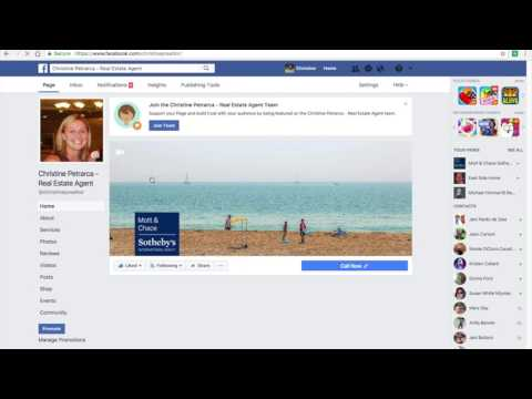 How to publish FB Page