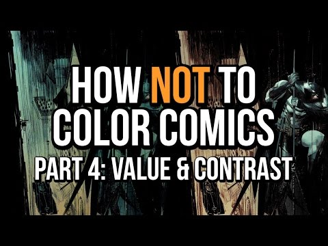 How NOT To Color Comics - Part 4 - Lack of value, contrast