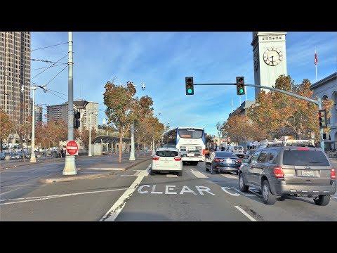 Driving Downtown 4K - San Francisco's Famous Pier's - USA