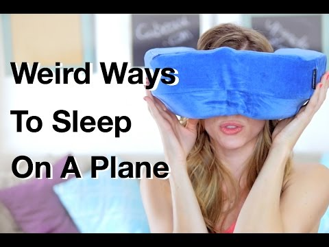7 Weird Ways to Sleep On A Plane | Travel Tips & Tricks | How 2 Travelers