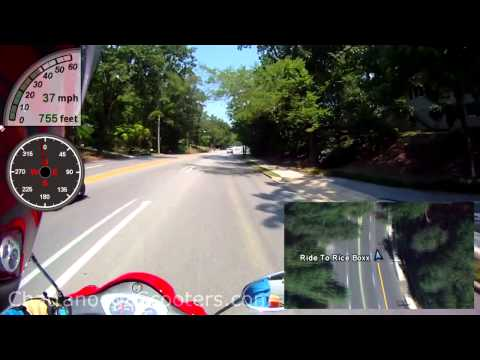 Chattanooga Scooters - Helmet Camera - Scooter ride to Rice Boxx - Lunch and Sushi