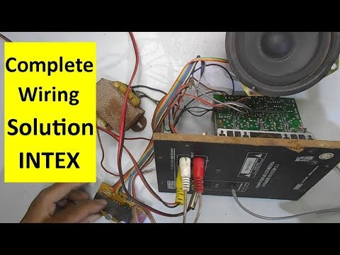 Full Intex Home Theater Wiring Solution and Repairing Guide Model IT-2000