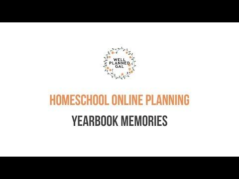 Homeschool Online Planning - Yearbook Memories