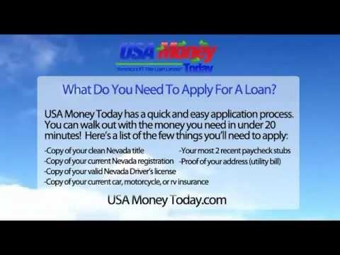 USA Money Today.com Las Vegas Nevada Auto Car Title Loan Fast Money, Easy Application!  Up to $25k