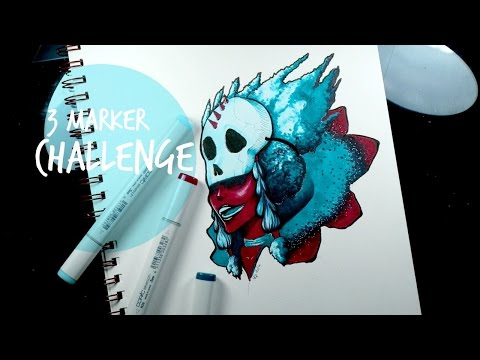 THE WITCH DOCTOR: 3 MARKER CHALLeNGE!