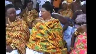 Queen.video Of  Female Rulers In Kente At Ashanti Juaben, Ghana, Africa