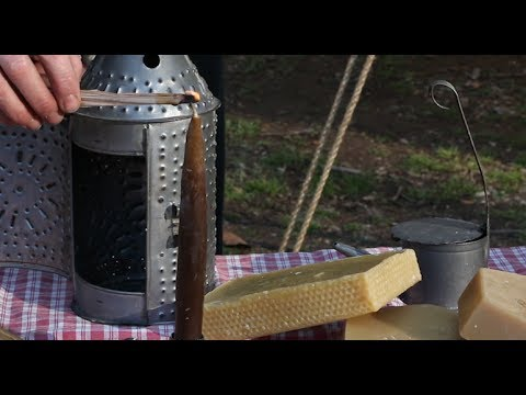 How To Make 18th Century Candles At Home!
