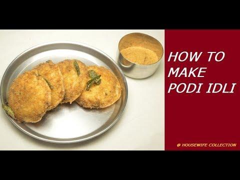 How to Make Podi Idli