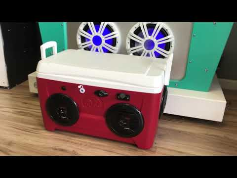 48qt Bluetooth IceChest Radio Cooler Radio 600 Watt Amp 4-150 Watt Speakers Phone/Mp3 Only