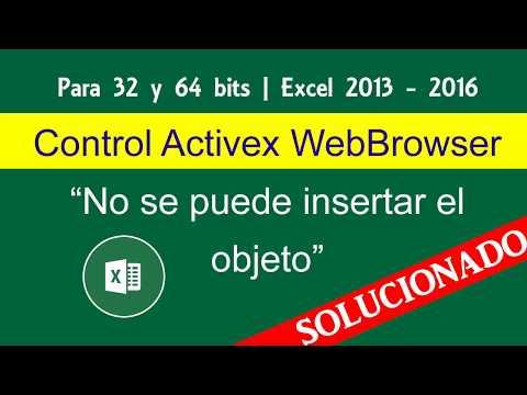 solucion control webbrowser control activex excel 2016