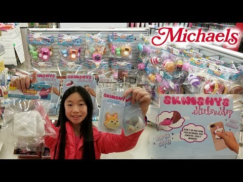 OMG, SQUISHY STICKERS?!? MICHAELS SQUISHY AND SLIME VLOG SO MANY SQUISHIES AT MICHAELS