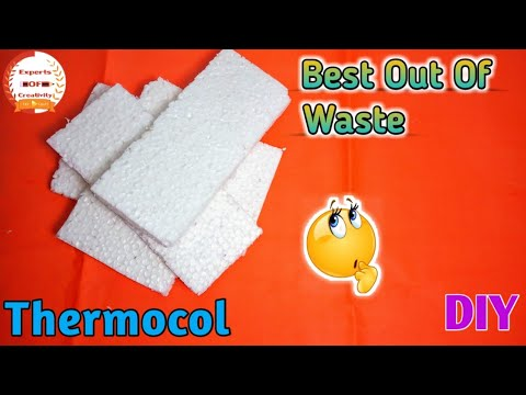 Best Out Of Waste|How To Reuse Thermocol|How To Reuse Thermocol Pieces|Experts Of Creativity