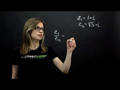 How to multiply, divide and find a polar form of the complex numbers