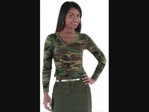 Camouflage Clothing for Woman and Kids