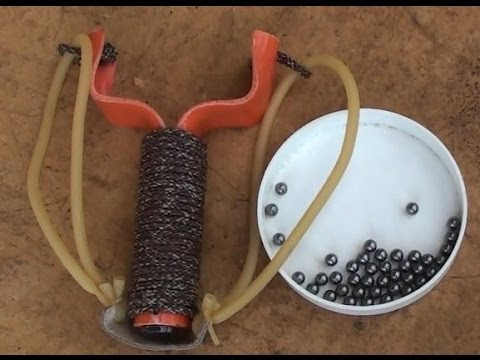 How To Make A PVC Slingshot, For Cheap, Excellent Accuracy, Huge Power
