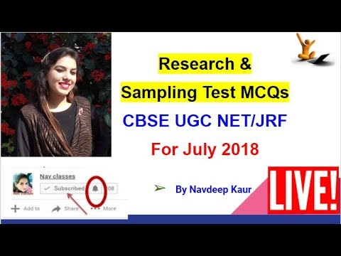 UGC NET Paper 1 Research and Sampling Expected MCQs