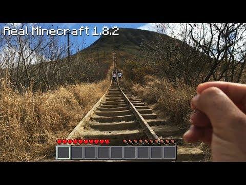 Real Life Minecraft - LONGEST MINECART TRACK