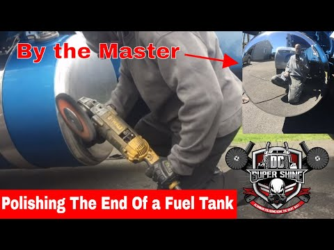 How to polish the end of a fuel tank - how to polish aluminum