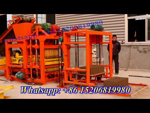 QT4-25 fully automatic cement concrete fly ash vibrated block making machine for block kerb stone