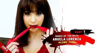 HOT PHOTOSHOOT, ANGELA LORENZA IN SEXY RED!!
