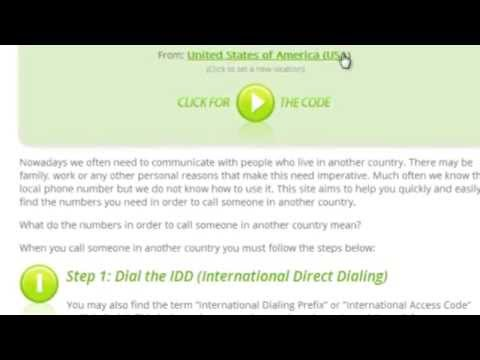 How to Call to UK from United States of America (USA)
