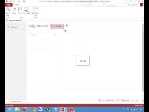 Creating an Access 2013 Web App
