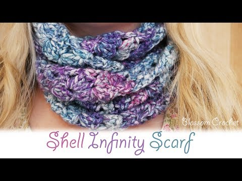 Super easy crochet: My Shell Infinity Scarf