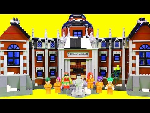 The Lego Batman Movie Batman Goes To Arkham Asylum To Stop The Joker Jail Break