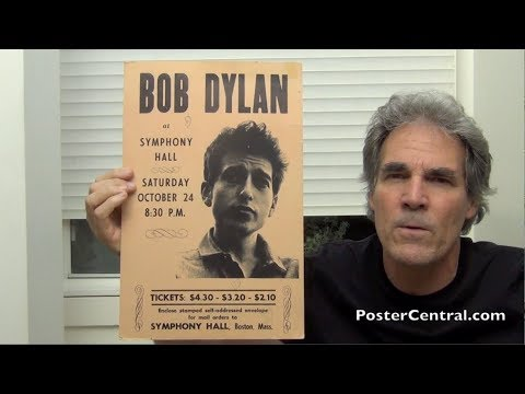 Bob Dylan Concert Poster 1964 Symphony Hall, Boston