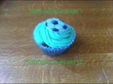 HOW DO YOU MAKE FOOTBALL CUPCAKES?