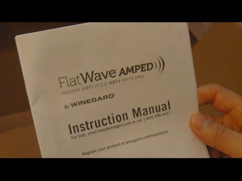 Winegard Flatwave Amped Indoor HDTV Antenna Review - Part 1 Unboxing