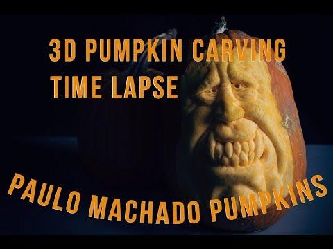 Paulo Machado 3D Pumpkin Carving  #2 Time Lapse