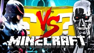 Minecraft: TERMINATOR LUCKY BLOCK CHALLENGE | ANDROIDS!!