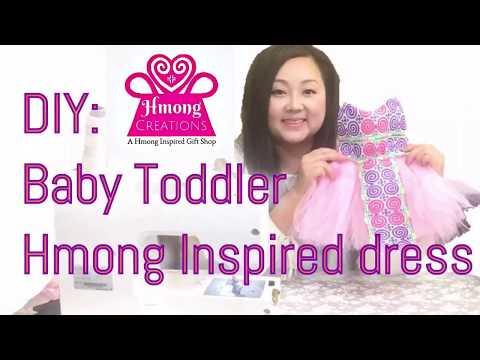 DIY Hmong baby toddler tutu dress HmongCreations.Etsy.com