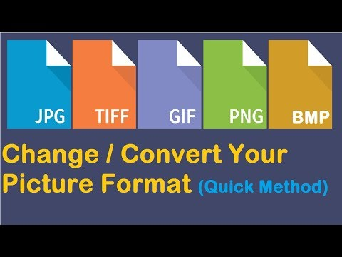 How to Change Picture Format | Convert Image into JPEG, PNG, GIF (Quick Method)