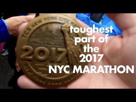 toughest part of the 2017 NYC MARATHON