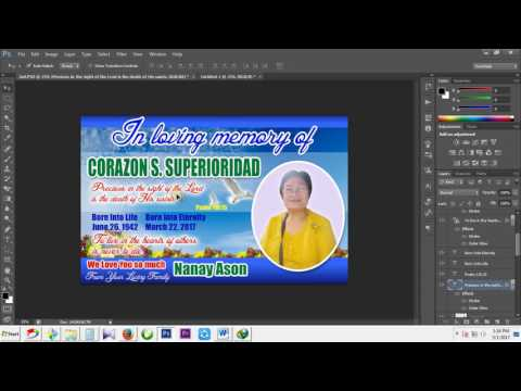 Photoshop Tutorial l How to make a Tarpaulin Layout,Design in Photoshop (Burial Layout)