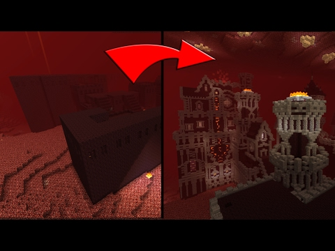 Minecraft Transforming A Nether Fortress / Epic Nether Fortress Design