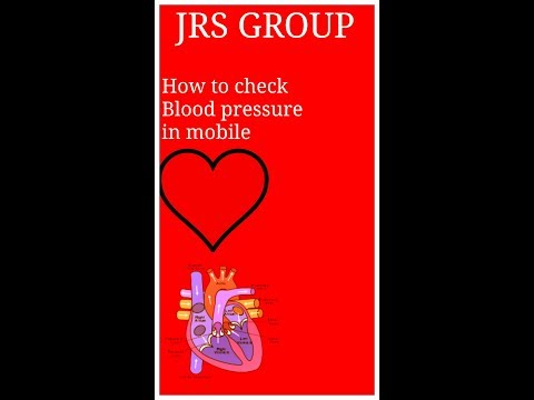 How to check blood pressure in mobile phone