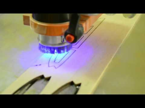 Stepcraft Laser Attachment SNEAK PREVIEW - Cutting Model Airplane Wing Ribs