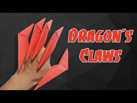 Origami Easy - How to make Dragon Claws & Paper Ninja Star shuriken 14 points - tutorial