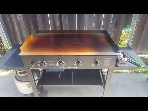 Blackstone griddle seasoning