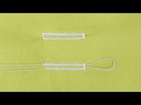 How to Sew a Corded Buttonhole