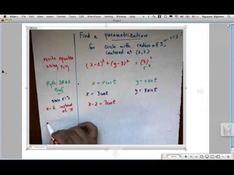 6 3 Find Parametrization for Circle