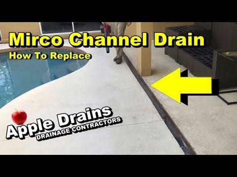 Mirco Channel Drain, Pool Deck Drain, DIY