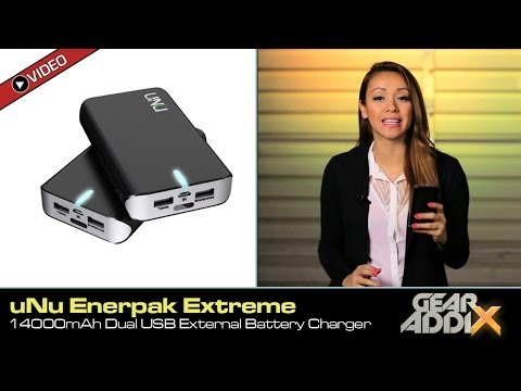 uNu Enerpak Extreme 14000mAh Dual USB Universal Battery Charger for Smartphones & Tablets