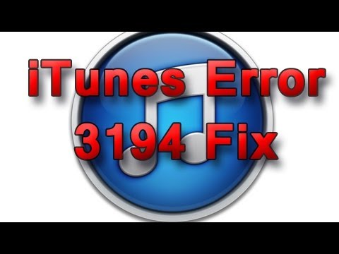 iTunes Error 3194 - Quick Fix/Host File Reset All Windows OS