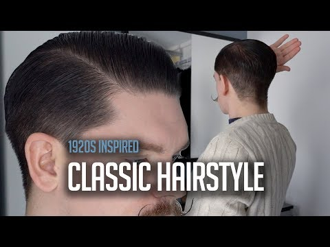 Classic Men's Side Part Hairstyle Using Pomade | Tutorial