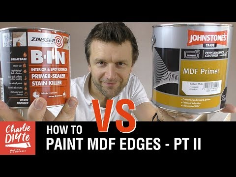 How to Paint MDF Edges - Zinsser B-I-N vs Johnstones MDF Primer